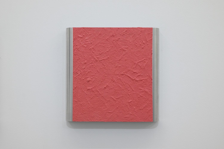 北𡌛吉彦|YOSAHIHIKO KITANO<br>Untitled - Y.K_ Pink-2|Oil on aluminum|220 x 222 x 35 mm|2020
