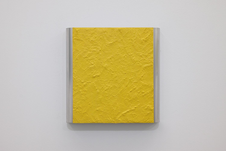 北𡌛吉彦|YOSAHIHIKO KITANO<br>Untitled - Y.K_ Yellow|Oil on aluminum|220 x 222 x 35 mm|2020