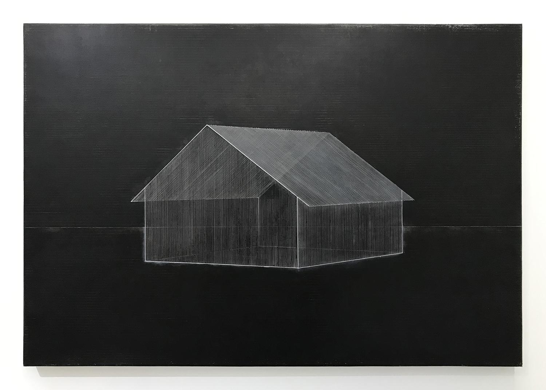 熊谷 誠|MAKOTO KUMAGAI<br>memory/scale (house) 05|Oil on canvas|70 x 103 cm|2020