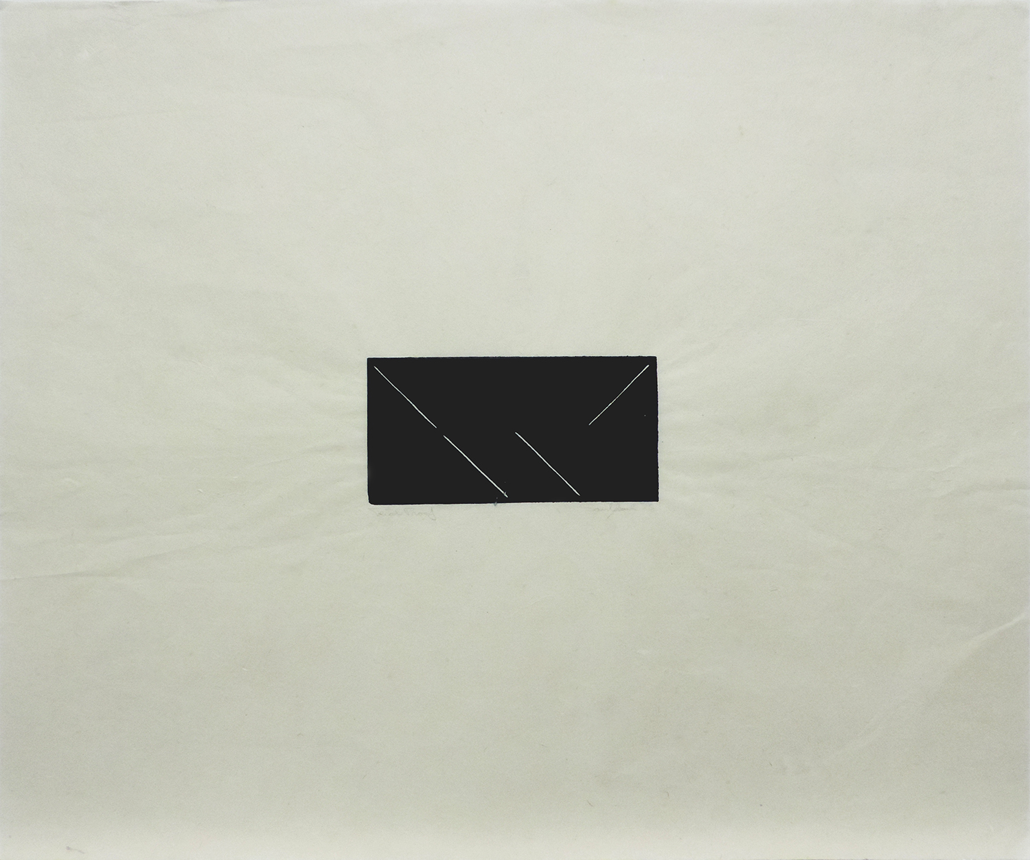 Untitled|linoleum cut on Japanese paper|44.5 x 53.4 cm|1975