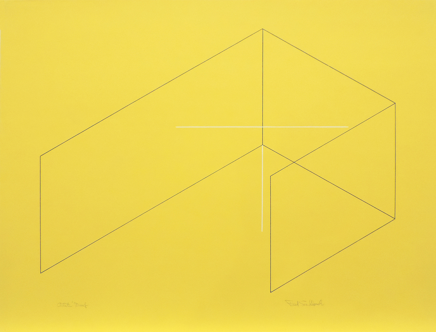 Untitled|silk screenprint on yellow wove paper with cut edge|50.2 x 65.1 cm|1970