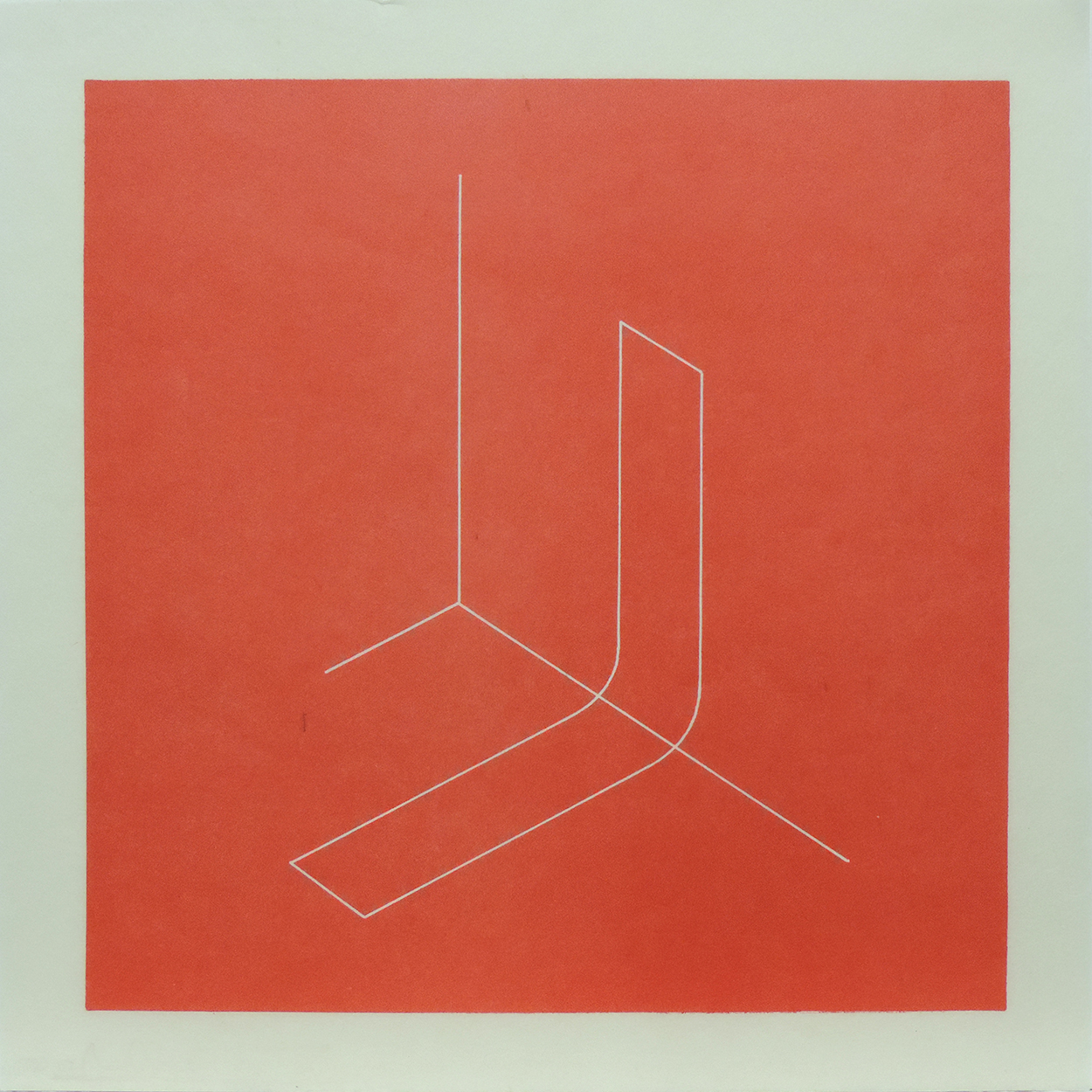 Untitled|lithograph on Japanese paper with cut edge|24.1 x 24.1 cm|1979