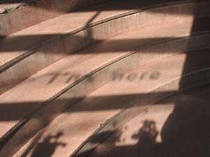 I'm here<br>acrylic sheet, shadow, 2007