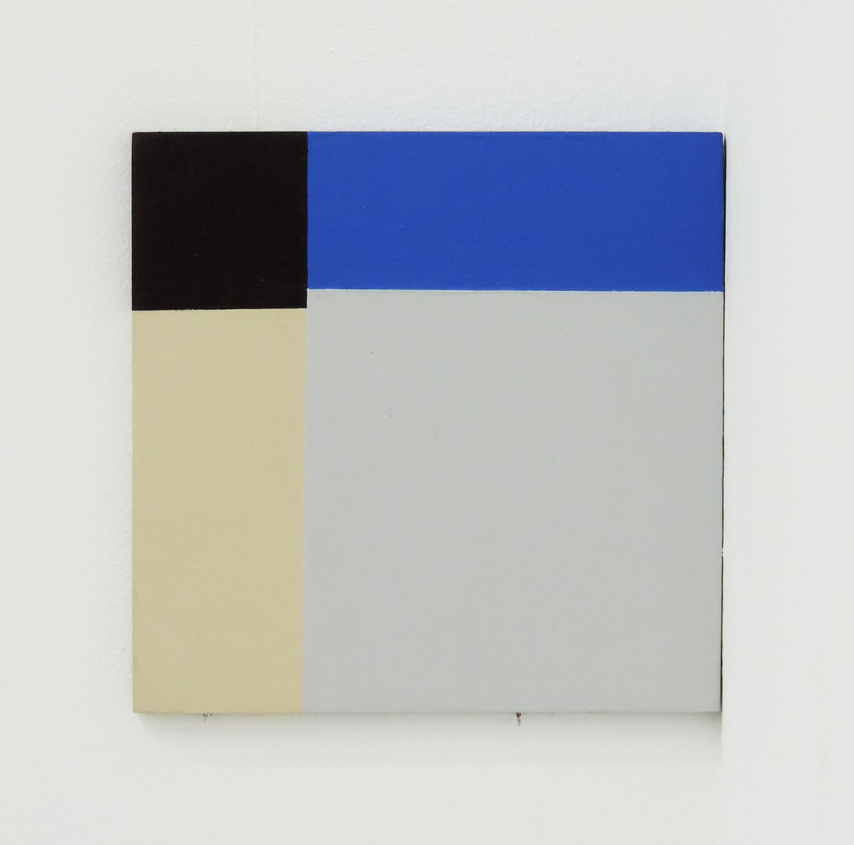 堀尾昭子<br>untitled / 板、アクリル絵具 94 × 92 x 5 mm 2016