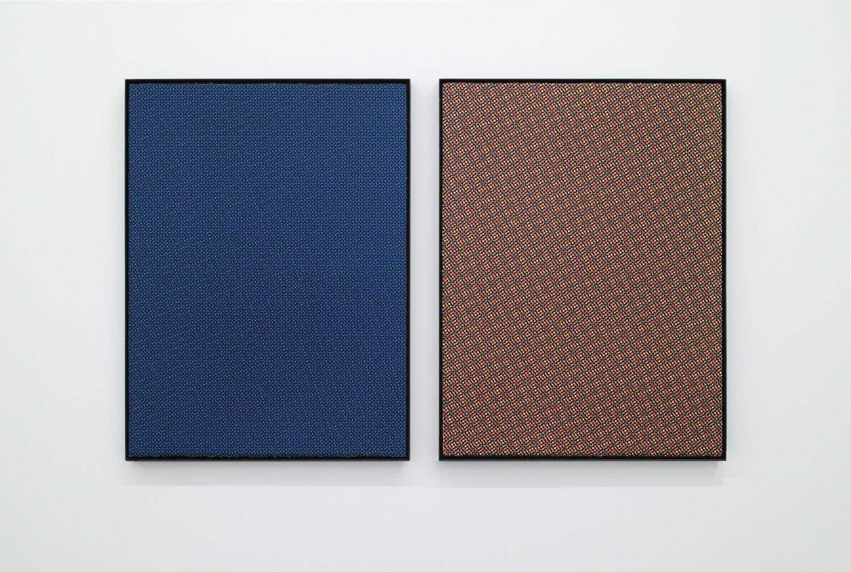 日下部一司<br>色面を模す・ABFK / 紙にシルクスクリーン, 515 × 685 mm<br>1998色面を模す・BBFK / 紙にシルクスクリーン, 515 × 685 mm, 1998