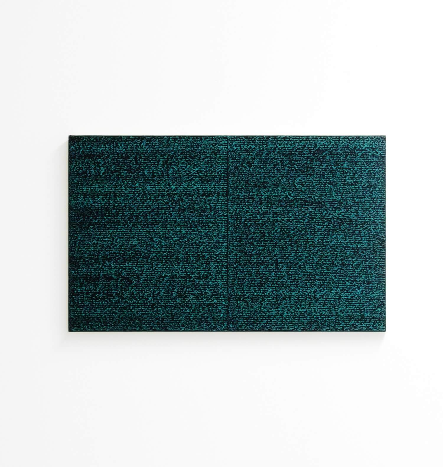 Simon Fitzgerald<br>Open Book blue-blue darkoil and amber / on canvas over, 37 x 60 cm, 2008