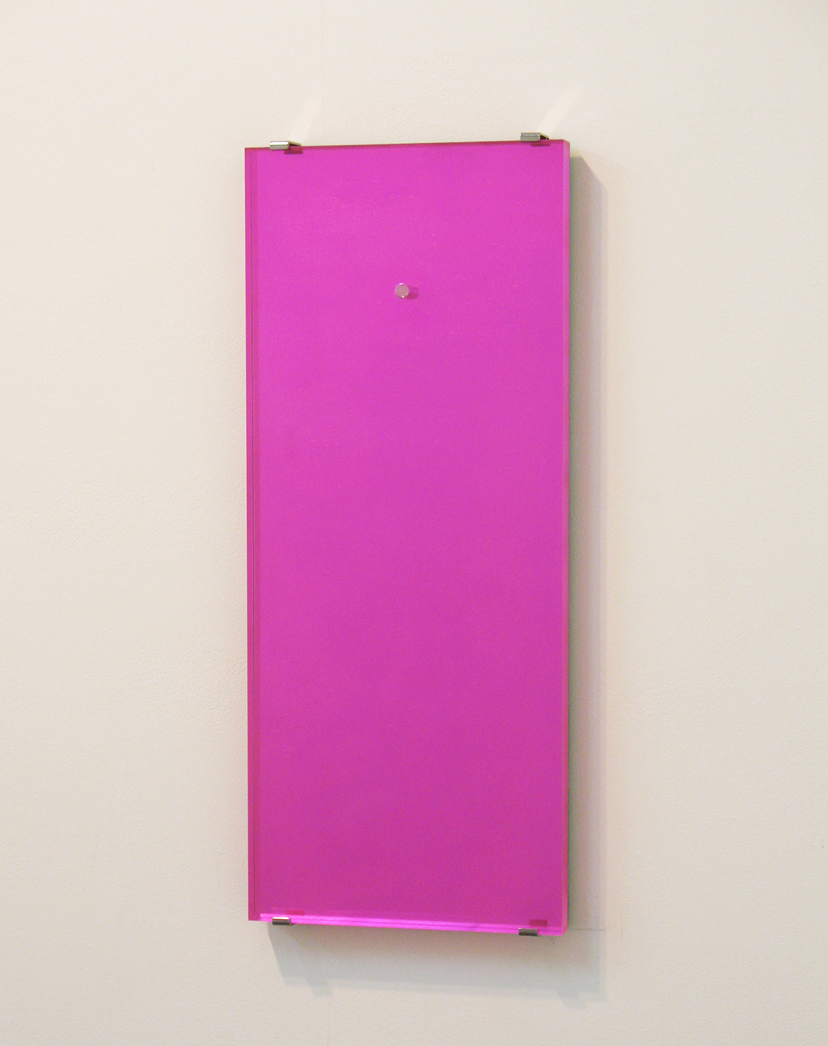 鏡/微分する眼|miror/differentiated eyes<br>mirror finish acrylic, acrylic acid resin, fluorescent paint, plastic sheet 610 x 250 x 25 mm 2010