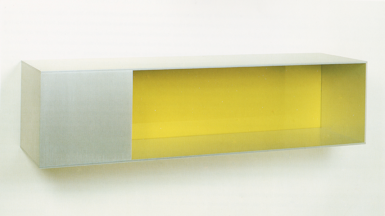 Untitled|aluminum and pale green plexiglass|25 x 25 x 100 cm|1987
