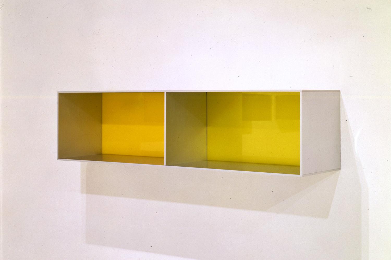 Untitled|aluminum and pale green plexiglass|25 x 25 x 100 cm|1988
