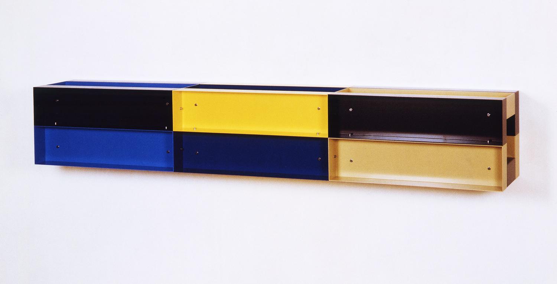 Untitled|painted aluminum|30 x 30 x 180 cm|1987