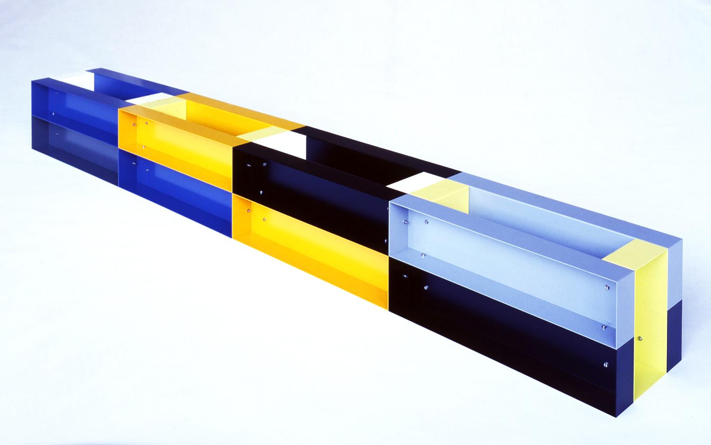 Untitled|painted aluminum|30 x 30 x 240 cm|1985