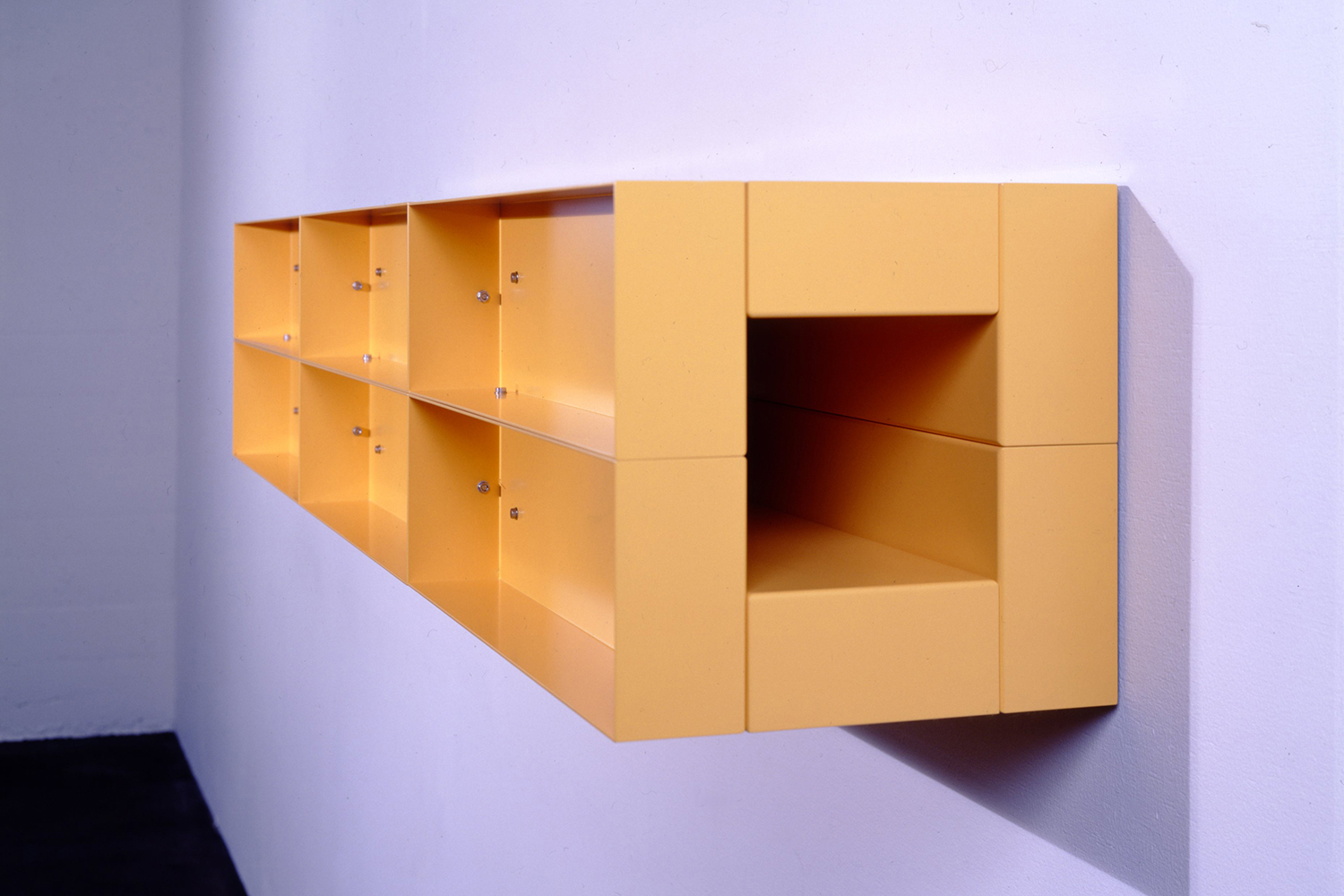 Untitled Yellow 1989|painted aluminum wall sculpture|30 x 180 x 30 cm