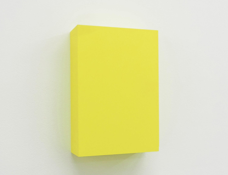 WORK16-7(lemon)アクリルにシルクスクリーン , 10 x 15 x 4 cm , 2016