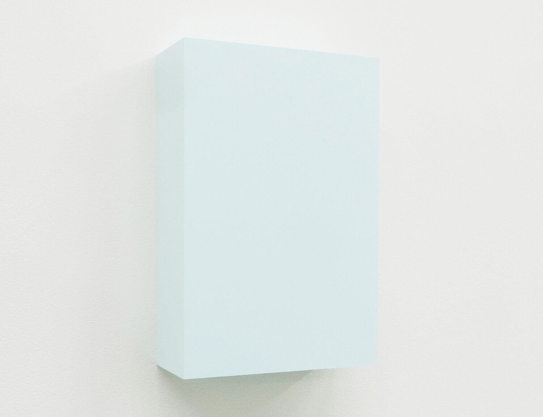 WORK16-4(light blue)アクリルにシルクスクリーン , 10 x 15 x 4 cm , 2016