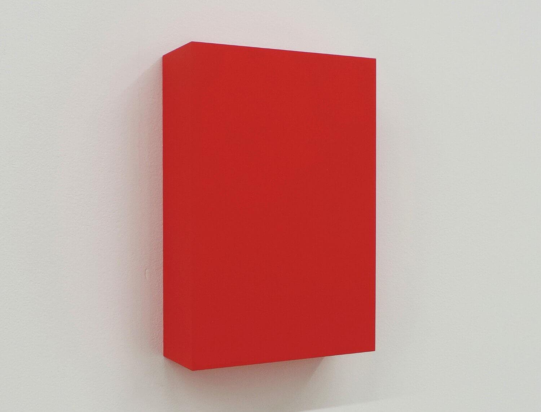 WORK16-2(red)アクリルにシルクスクリーン , 10 x 15 x 4 cm , 2016