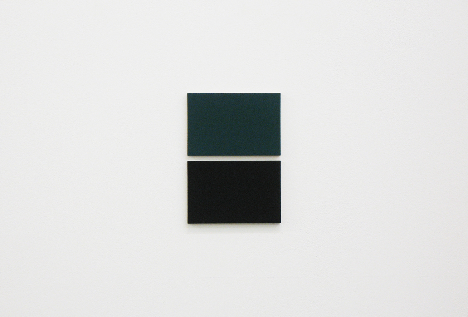 2col-09(green & black)casein, pigment on canvas & aluminum (2 parts, 10 x 15 cm each)
