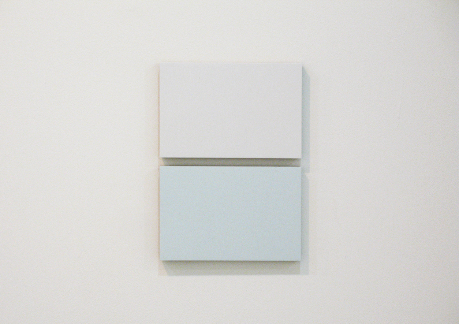 2col-09(gray & blue gray)casein, pigment on canvas & aluminum (2 parts, 10 x 15 cm each)