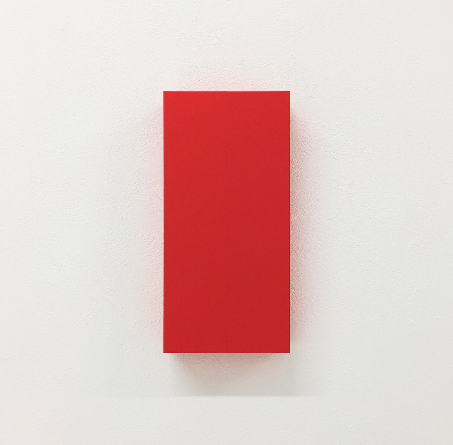 half note_red, silkscreen on perspex, 24 x 12 x 4 cm, 2018