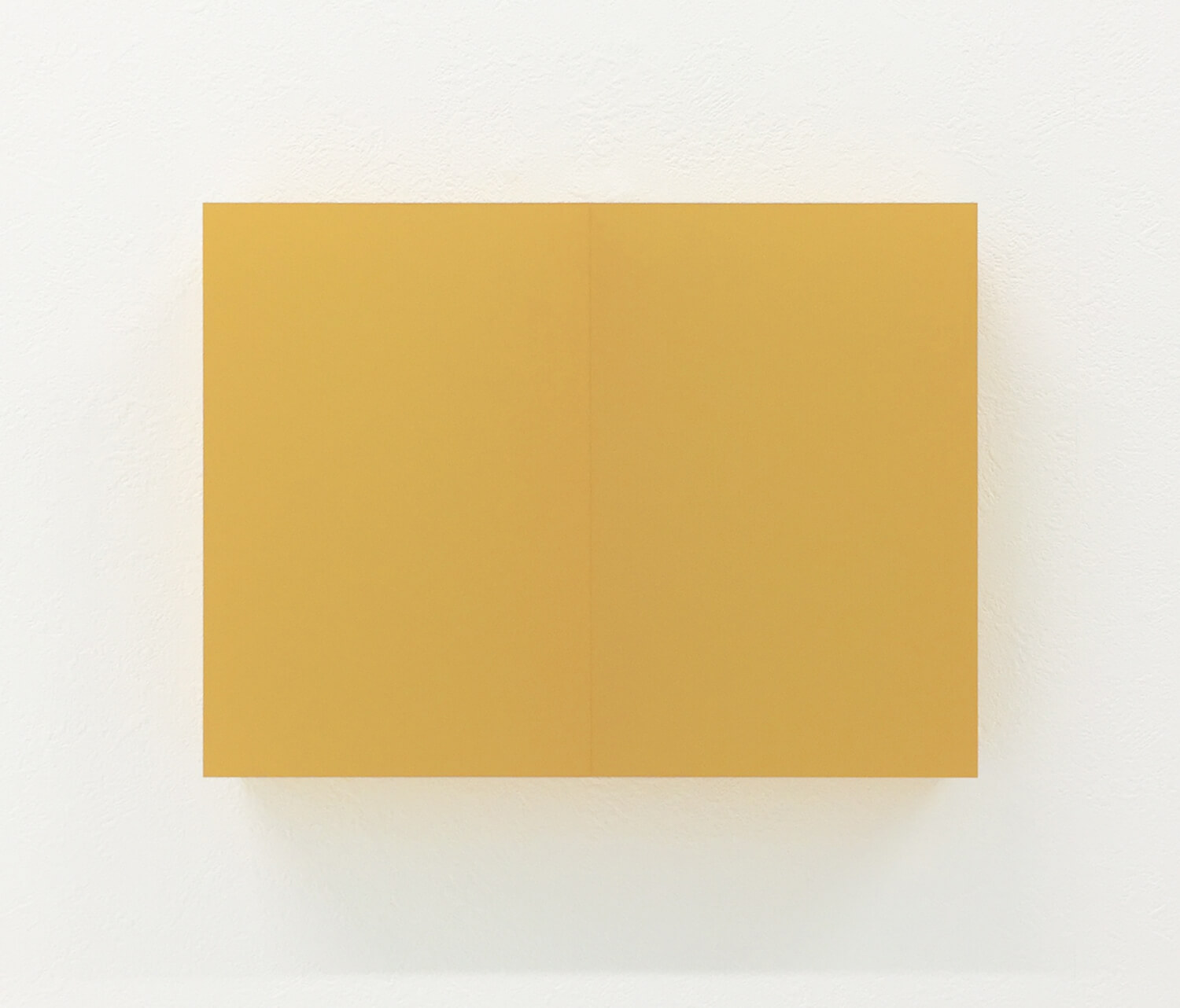 half note_yellow, silkscreen on perspex, 18 x 24 x 4 cm, 2018