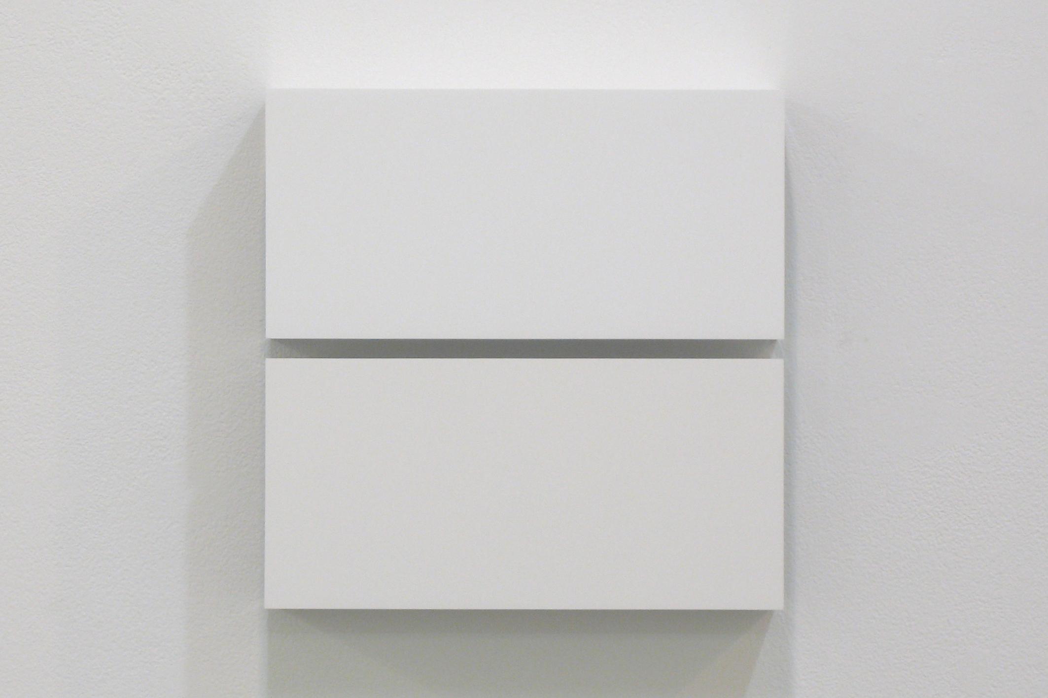 Two Colors 3|Aluminum, casein, pigment|25 x 25 x 6 cm|2011