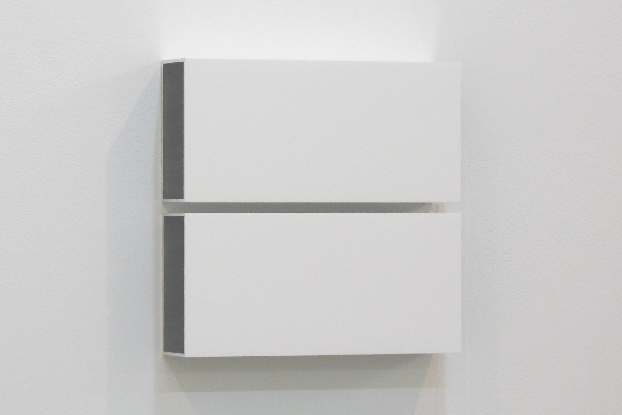 Two Colors 5|Aluminum, casein, pigment|25 x 25 x 6 cm|2011