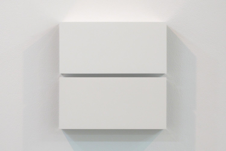 Two Colors 6|Aluminum, casein, pigment|25 x 25 x 6 cm|2011