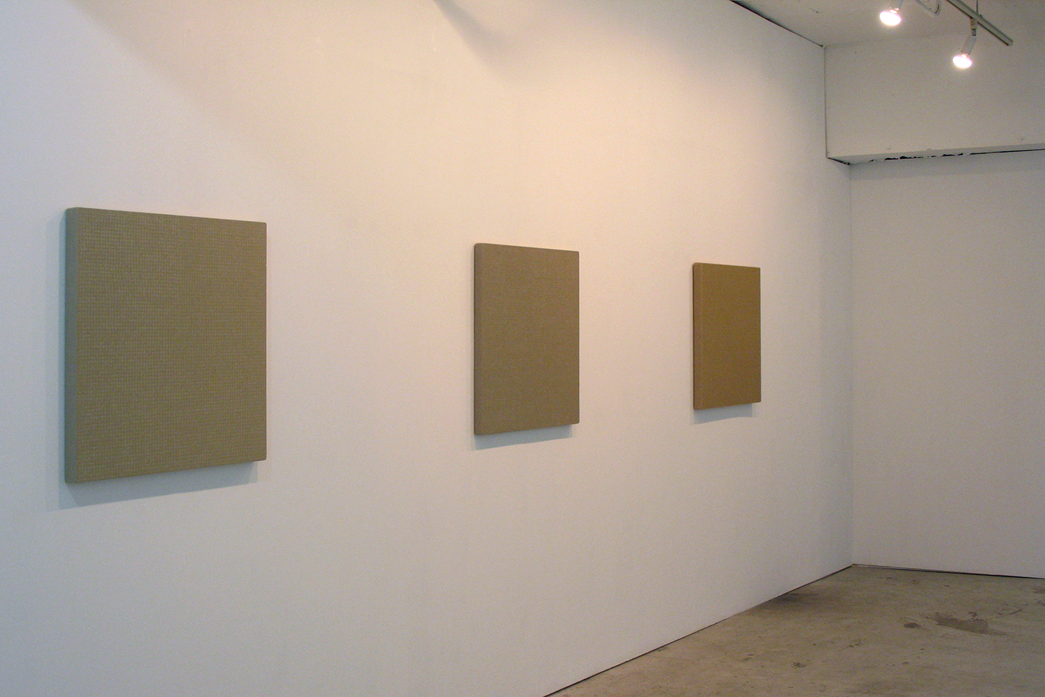 Installation view<br>Hemp-square series|Acylic on canvas|72.5 x 72.5 cm|2008 each