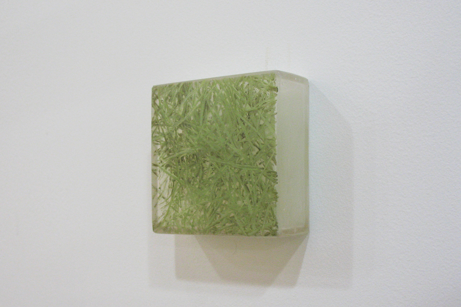 Photo-painting 草上のかおり|Scent on the grass |7.5 x 7.5 x 3 cm|Oil on FRP, mixed media| 2009