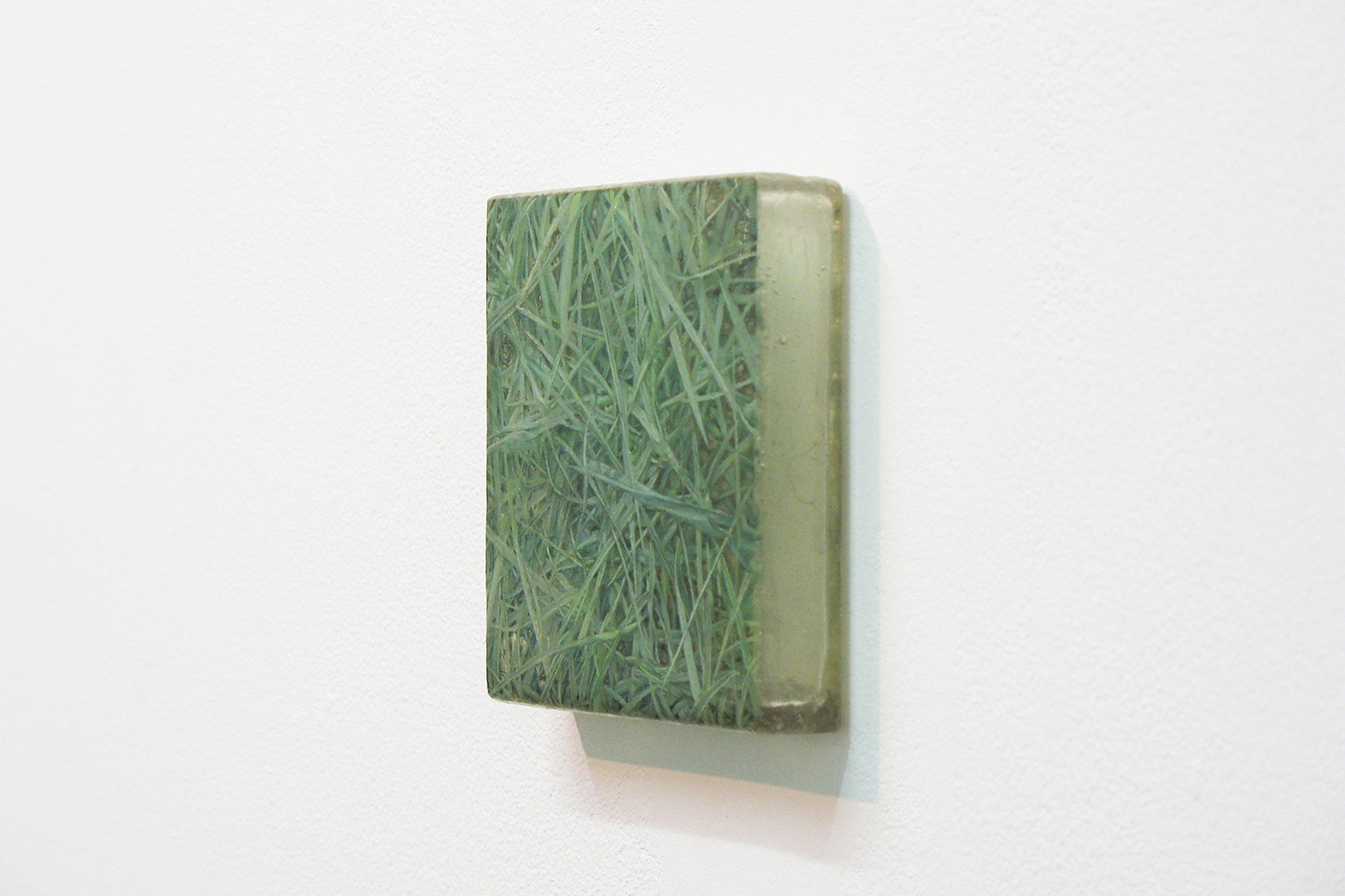 Photo painting 「草上の手触り」11・1|11 x 11cm|Oil on FRP panel|2011