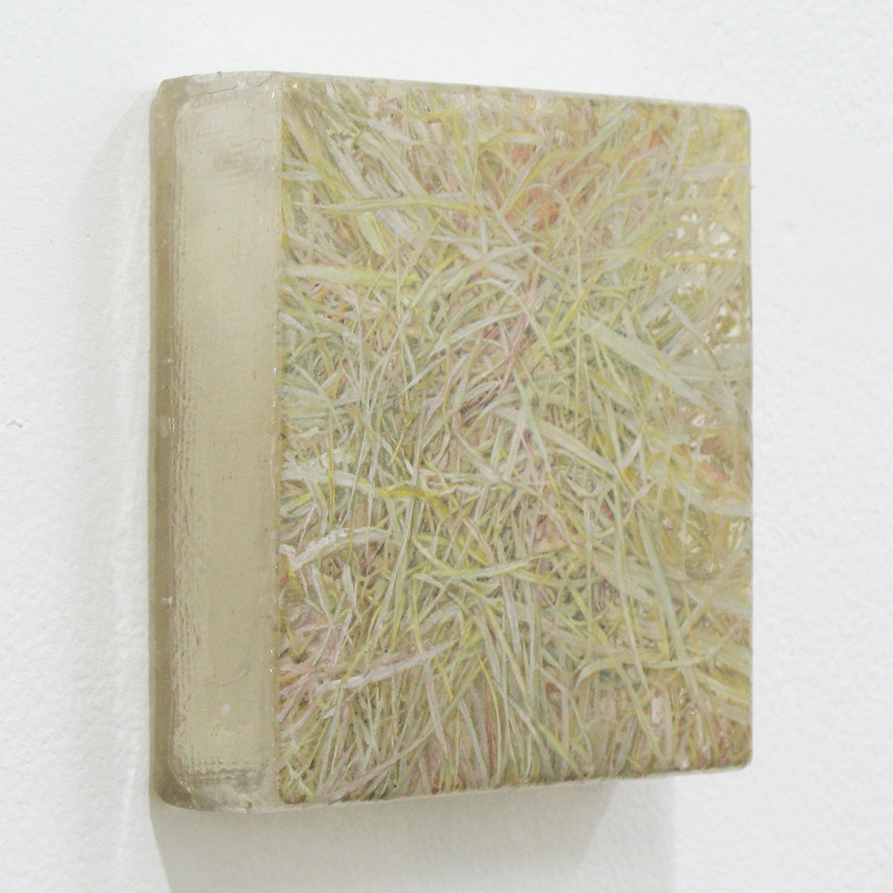 Photo painting 「草上の手触り」11・4|11 x 11cm|Oil on FRP panel|2011