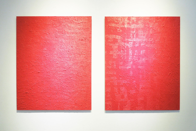 Untitled-Barairo(薔薇色)(1)|Untitled-Barairo(薔薇色)(2)|Oil on aluminum|727 x 606 mm|2012 each