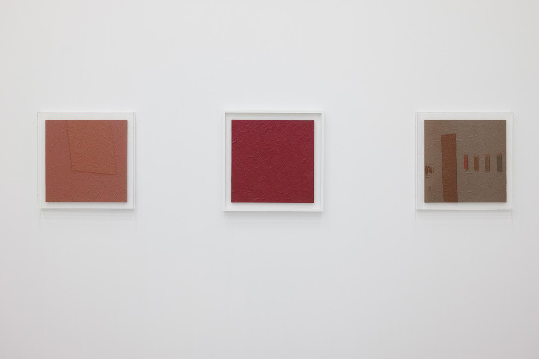 Untitled-Kasshoku (褐色)|Untitled-Kabairo (蒲色)|Untitled-Ebi-iro (海老色)|Oil on canvas|455 x 455 x 20 mm|2016 each