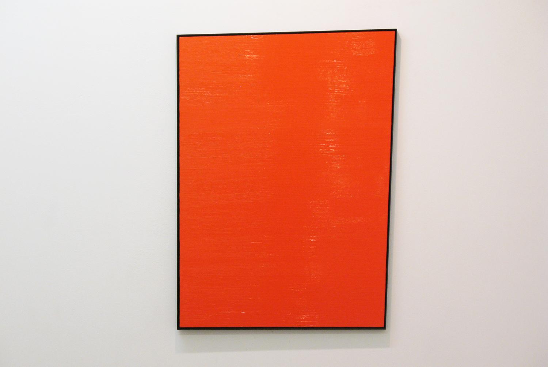 多角形を作り上げている線分|木製パネルに綿布・合成樹脂塗料・鉄フレーム|865 × 643 mm|2009