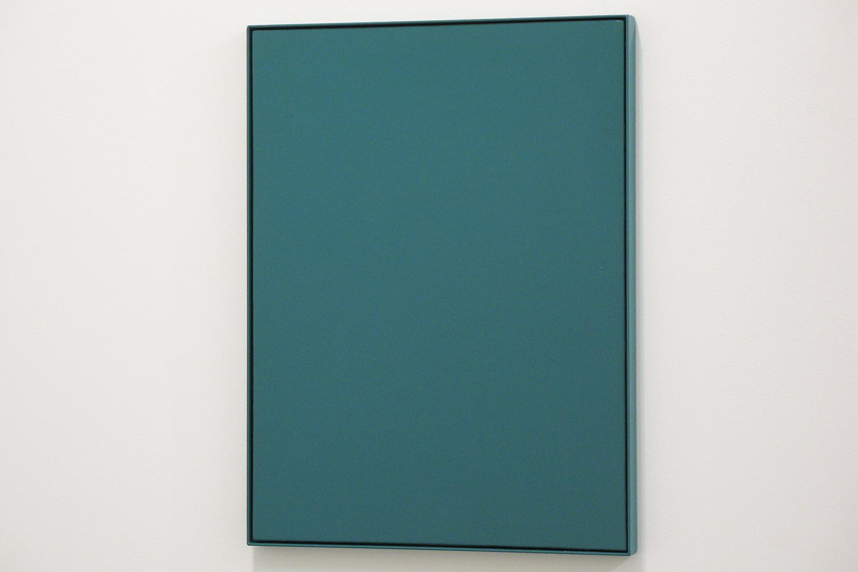 royal green|木製パネルに綿布・合成樹脂塗料・鉄フレーム|500 × 380 mm|2009