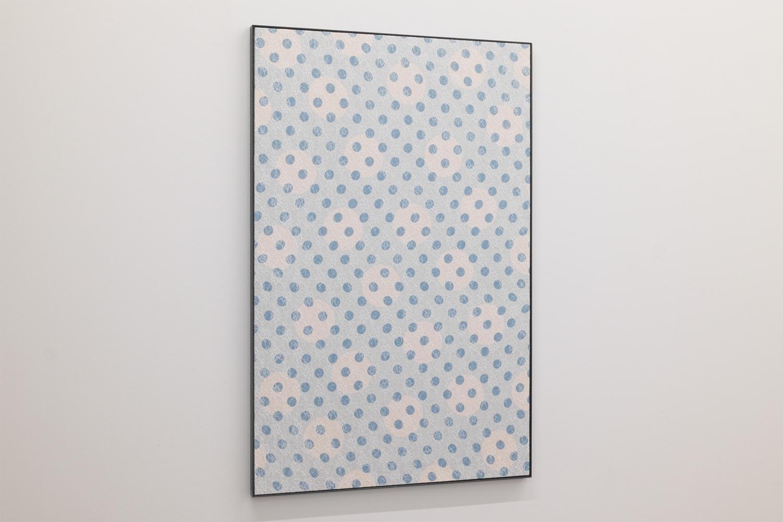 だぶる・A/Double A|Acrylic paint, lace on panel, irion|1060 x 695 x 25 mm|2020