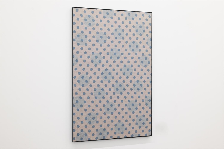 だぶる・B/Double B|Acrylic paint, lawn on panel, iron|1060 x 695 x 25 mm|2020