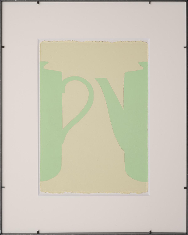 輪郭を探す・A-a /looking for outline|Luminescent pigment on Japanese paper, iron|555 x 455 x 25 mm|2019