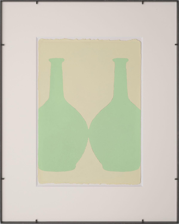輪郭を探す・A-b/looking for outline|Luminescent pigment on Japanese paper, iron|555 x 455 x 25 mm|2019