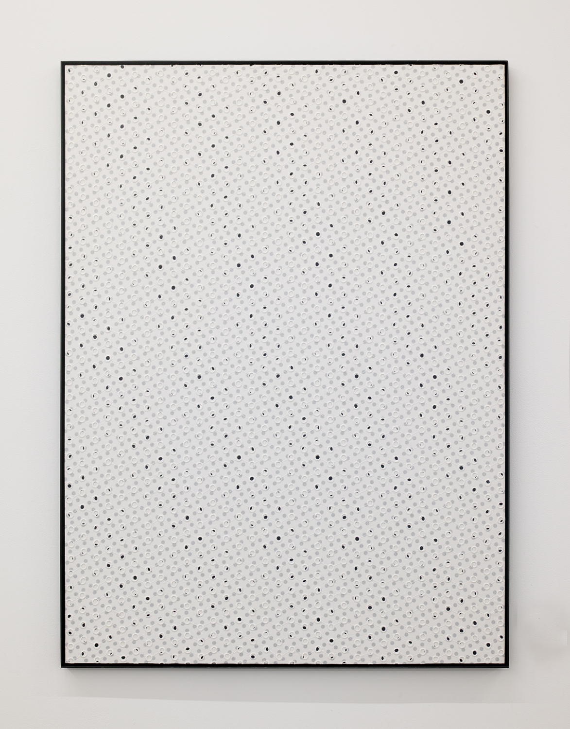 Two rules|Acrylic paint, cotton on panel, iron|1098 x 905 x 25 mm|2020