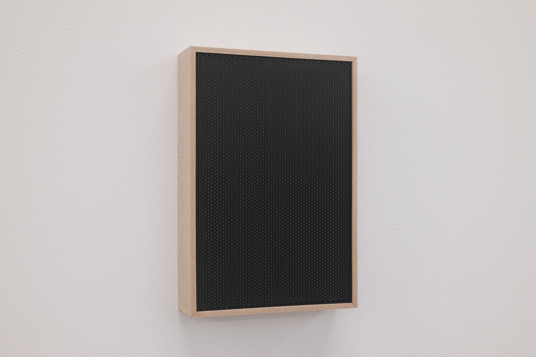 遠くの夜景/Far night view|Perforated board, acrylic paint, luminescent pigment|155 x 105 x 30 mm|2020