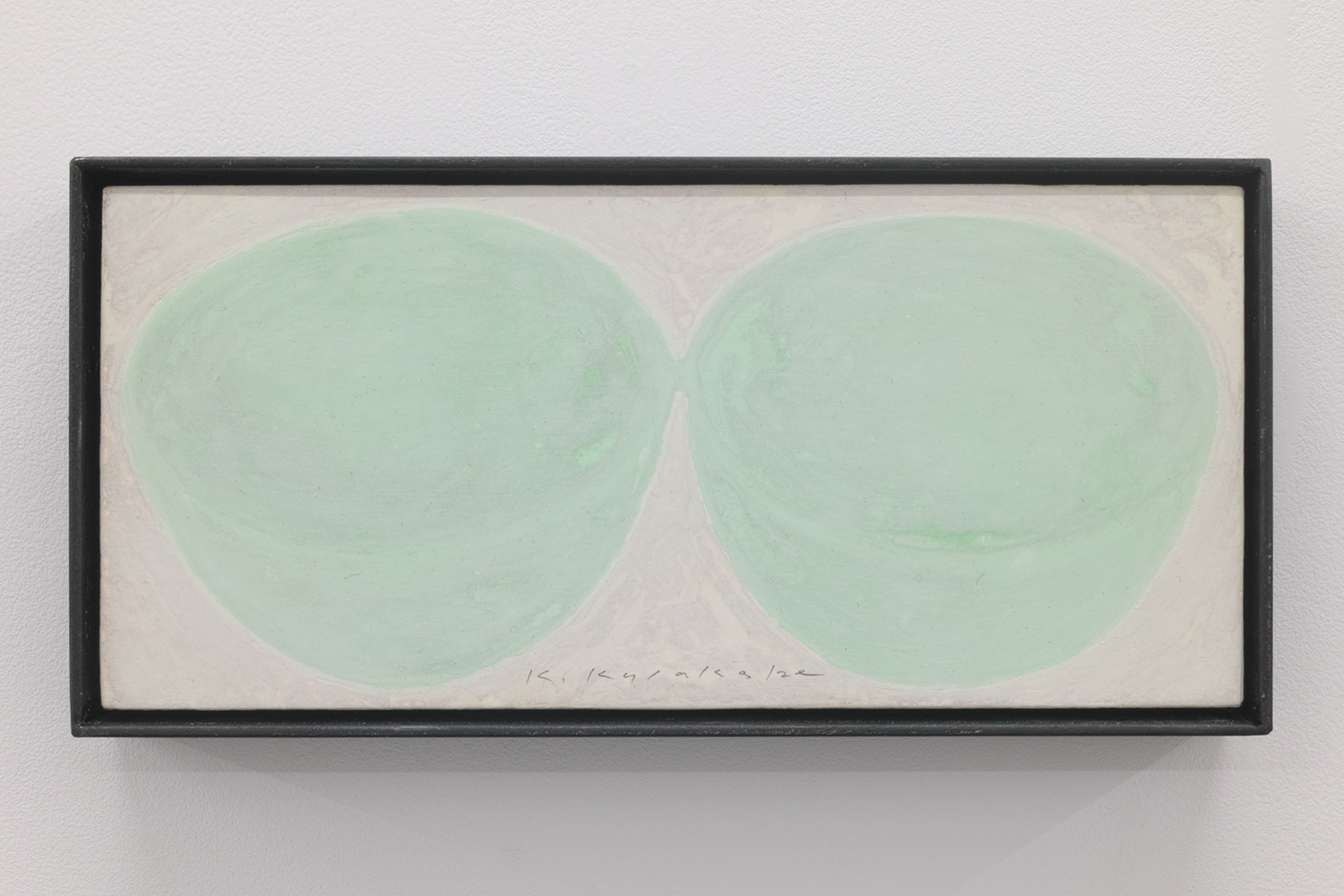 実物大という大きさ/Full-scale size|Acrylic paint, luminescent pigment, cotton on panel|115 x 240 x 40 mm|2019<br>¥50,000-100,000