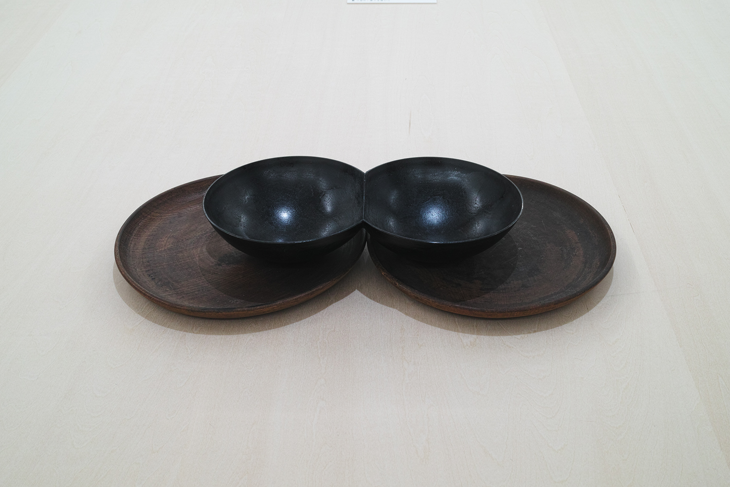重空間/Heavy (double) space|Wooden plate and iron|200 x 165 x 34 mm|2019<br>Sold