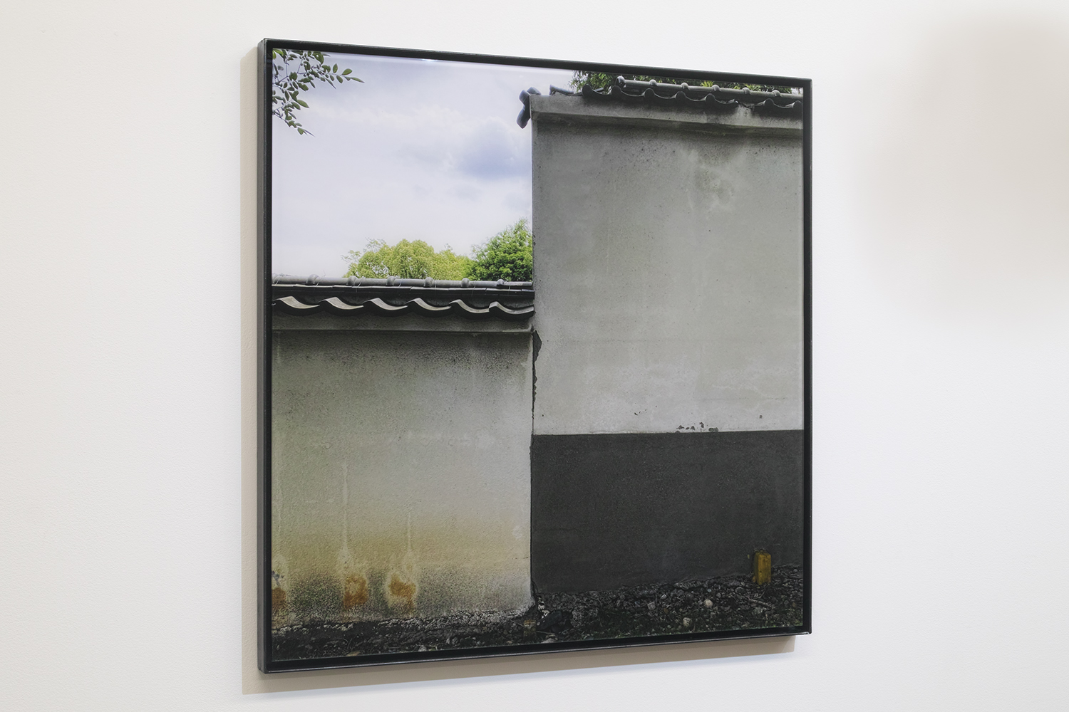 壁を眺める/Looking at a wall|Lambda silversalt print, acrylic board, iron|515 x 515 x 25 mm|2020<br>¥150,000-250,000