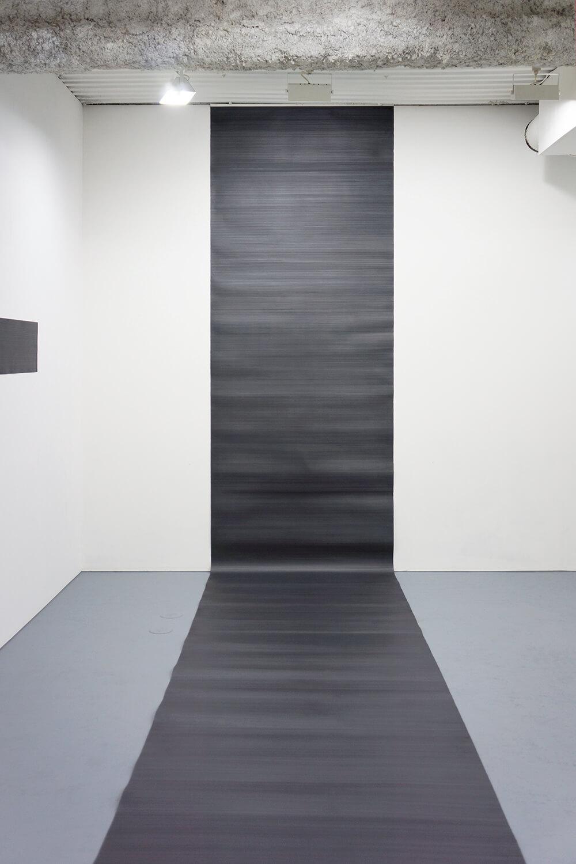 Line '10-1|Pencil on Arche paper|114 x 1000 cm|2010