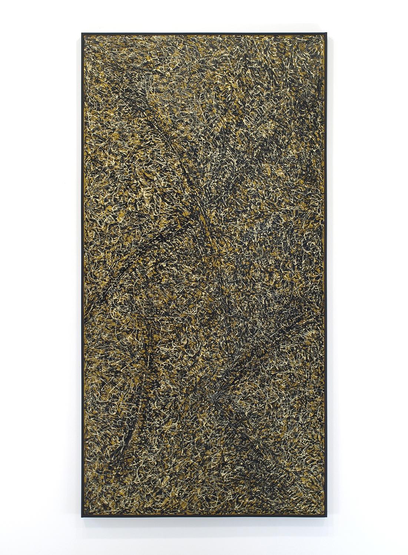 Enamel on linen & wood panel|182.5 x 91.5 cm|1964