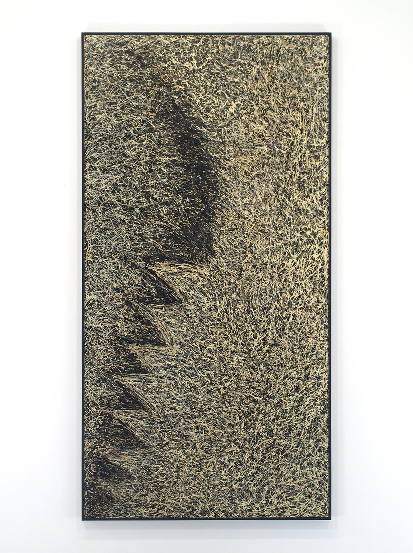 Enamel on linen & wood panel|182.5 x 91.5 cm|1967.6