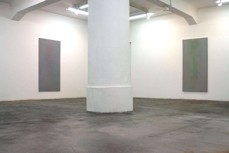 Floating shadow #1|浮影 #1|Panel, acrylic, polyester organza|182 x 910 mm|2007 (left)<br>Floating shadow #2|浮影 #2|Panel, acrylic, polyester organza|182 x 910 mm|2007 (right)