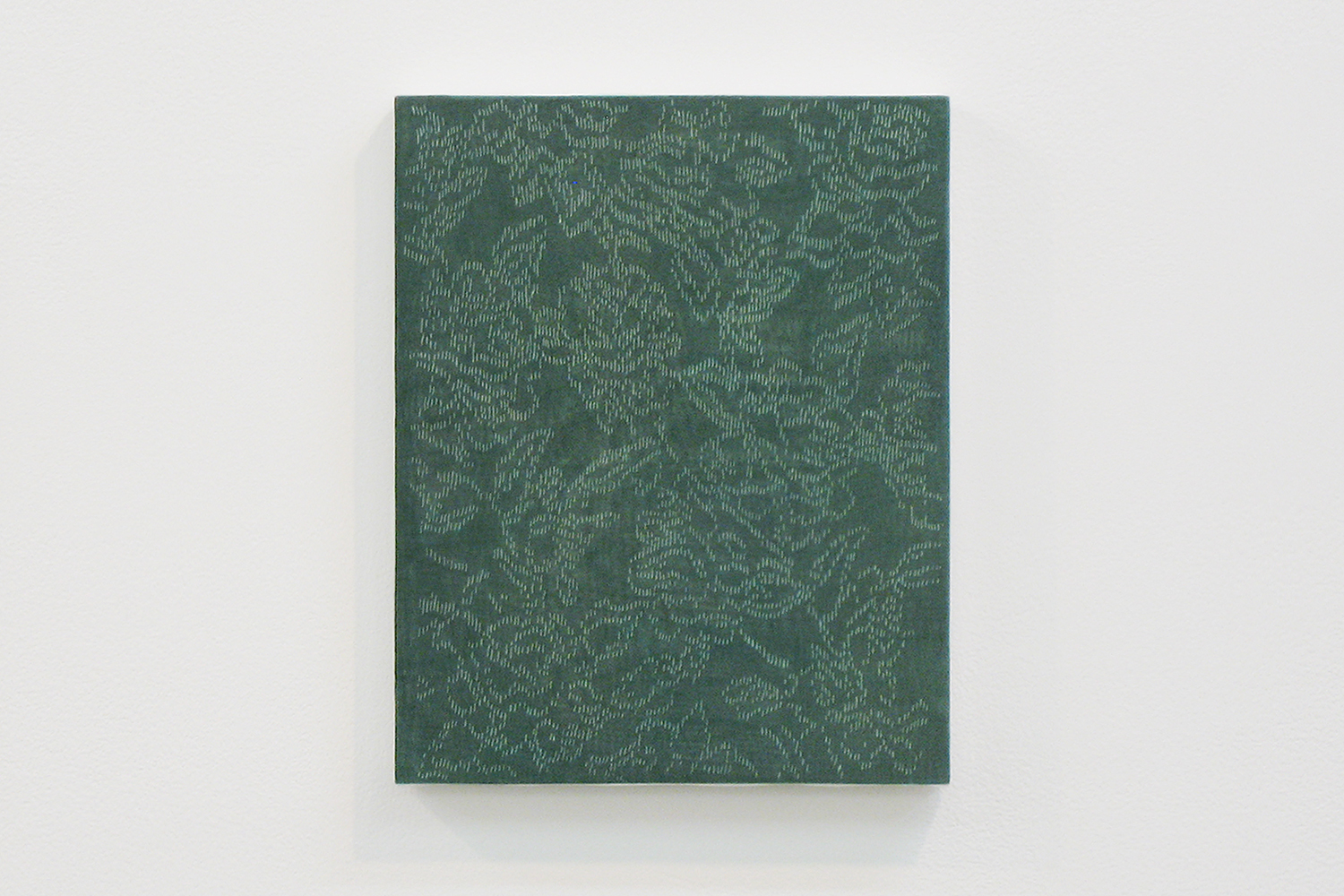 lace G|panel, stainless steel sheet, glass organdy, acrylic|273  x 220 mm|2009