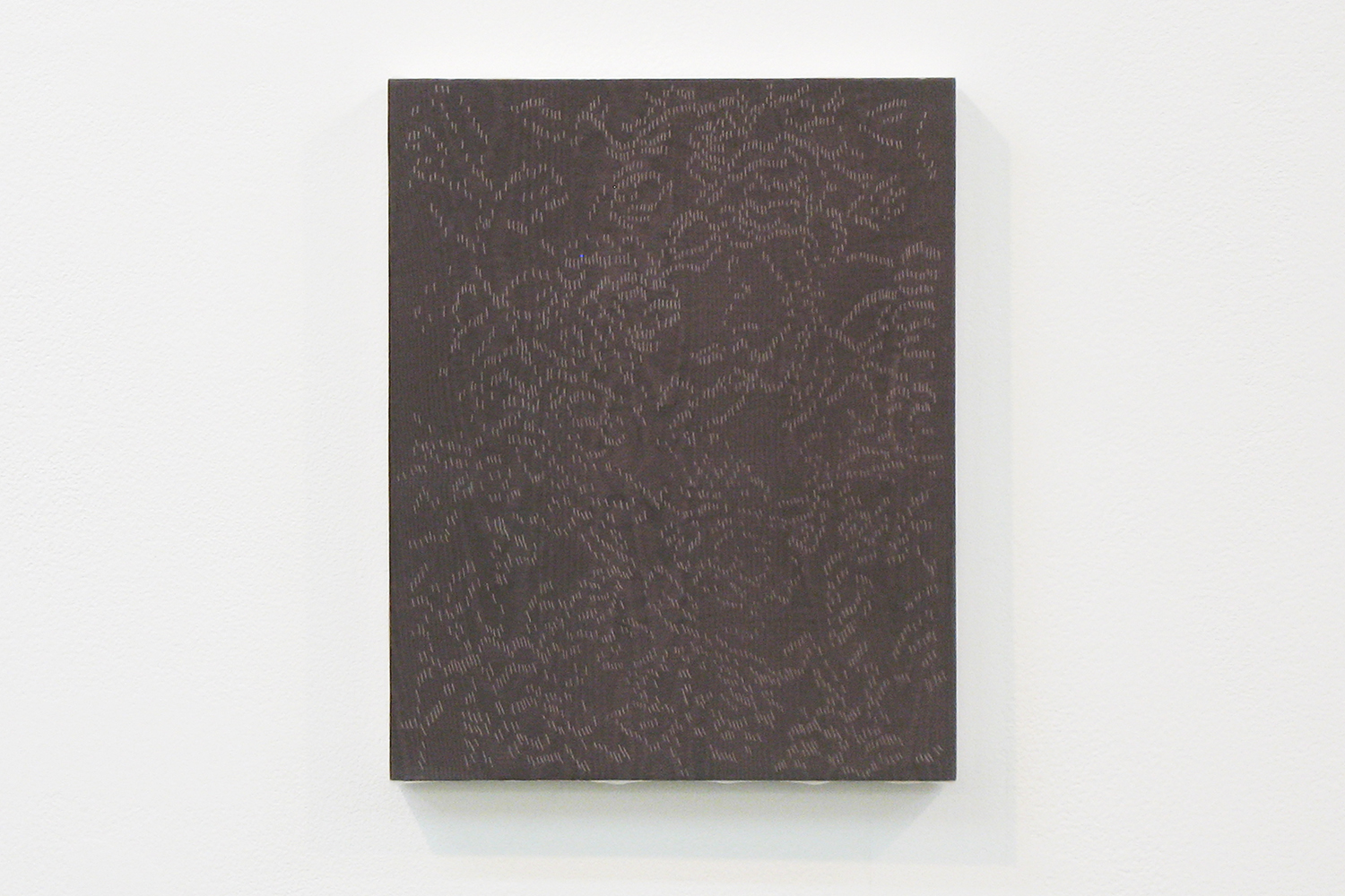 lace DB|panel, stainless steel sheet, glass organdy, acrylic|273  x 220 mm|2009