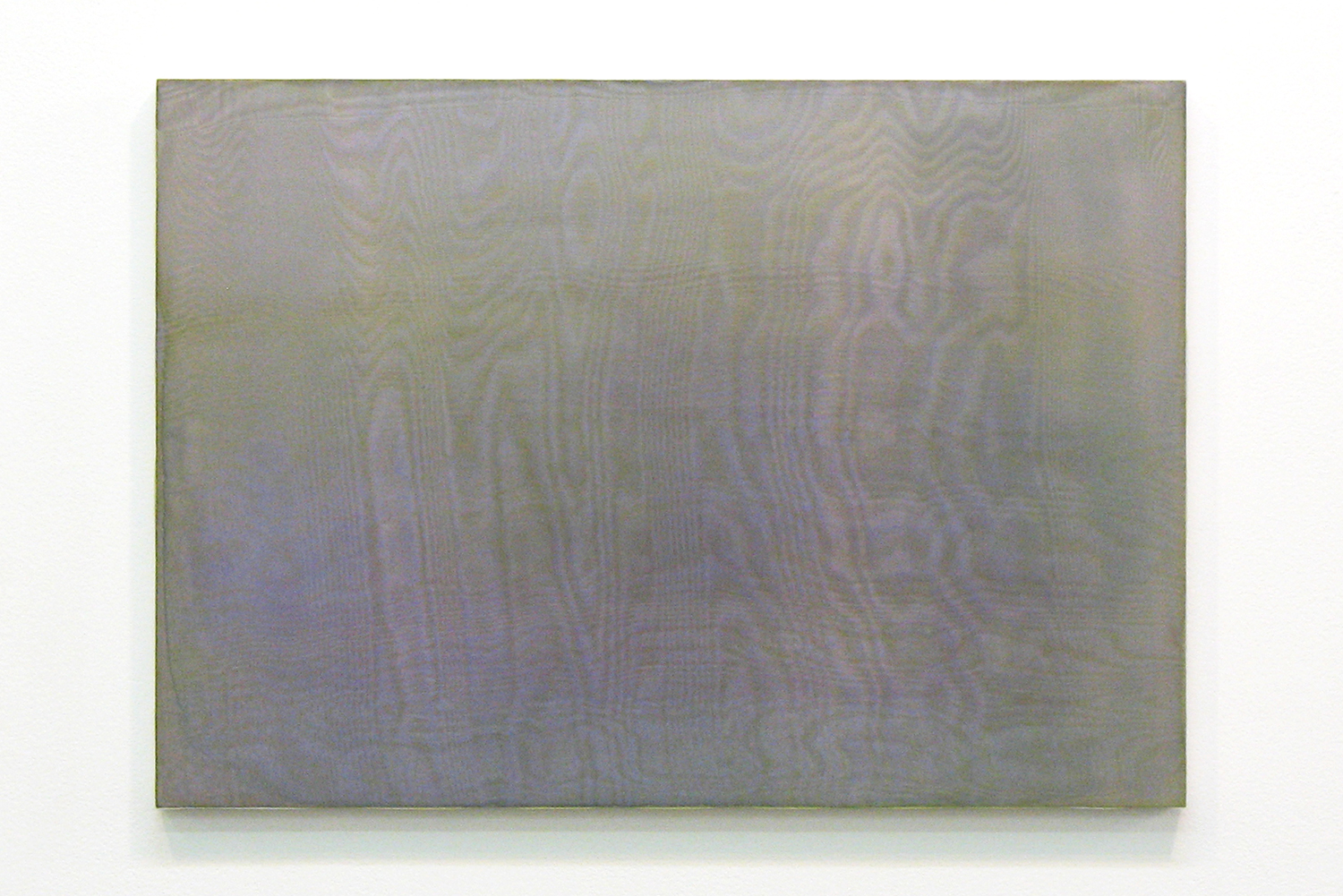 中空 0909 (hollowness 0909)|panel, stainless steel sheet, glass organdy, acrylic|363  x 515 mm|2009
